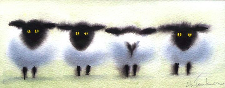 theres-always-one-sheep-c2435bbe2ce307145392181311332d56